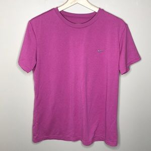 NIKE Crew Neck Fit Dry ss Technical Top w/ swoosh